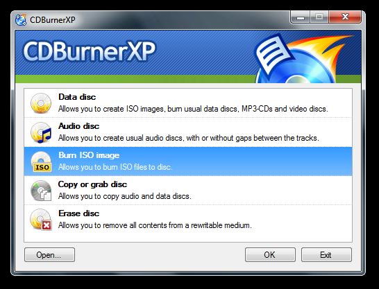 CDBurnerXP: Imagesser